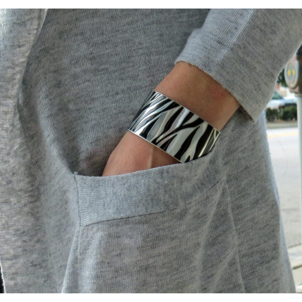 Porsche Zebra Cuff - CRASH Jewelry