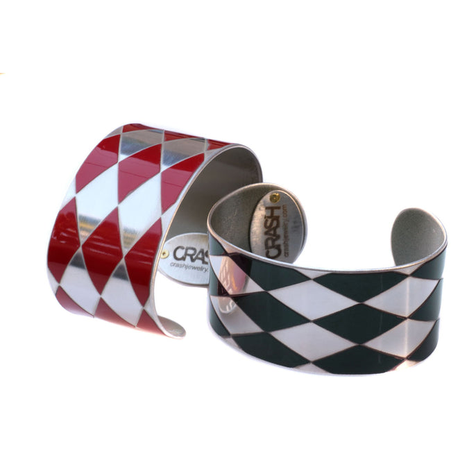 Range Rover Red Harlequin Cuff - CRASH Jewelry
