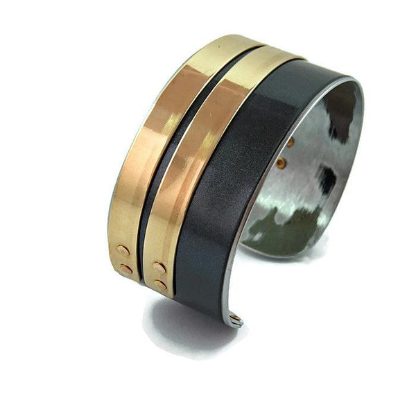 Stacked Gray BMW Cuff - CRASH Jewelry