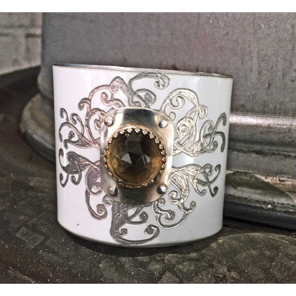 Tesla Smoky Quartz Cuff - CRASH Jewelry
