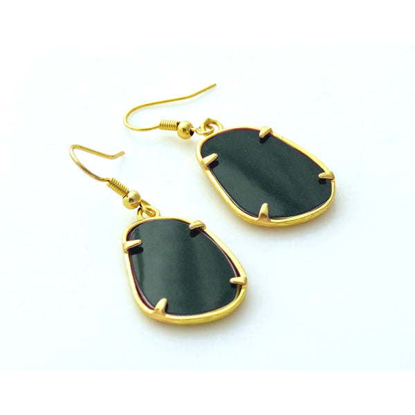 BMW Alpina Green Oval Earrings - CRASH Jewelry