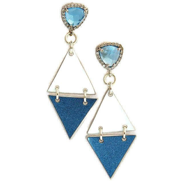 Double Bentley Topaz Earrings - CRASH Jewelry