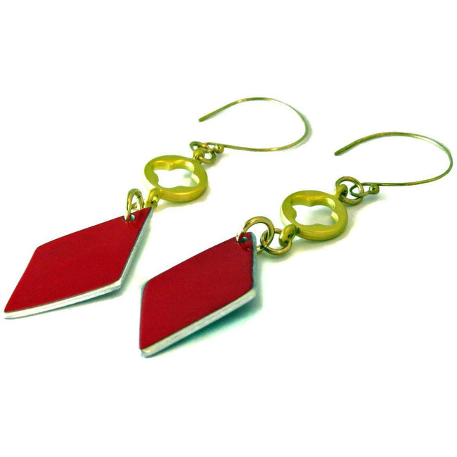 Ferrari Red Diamond Earrings - CRASH Jewelry
