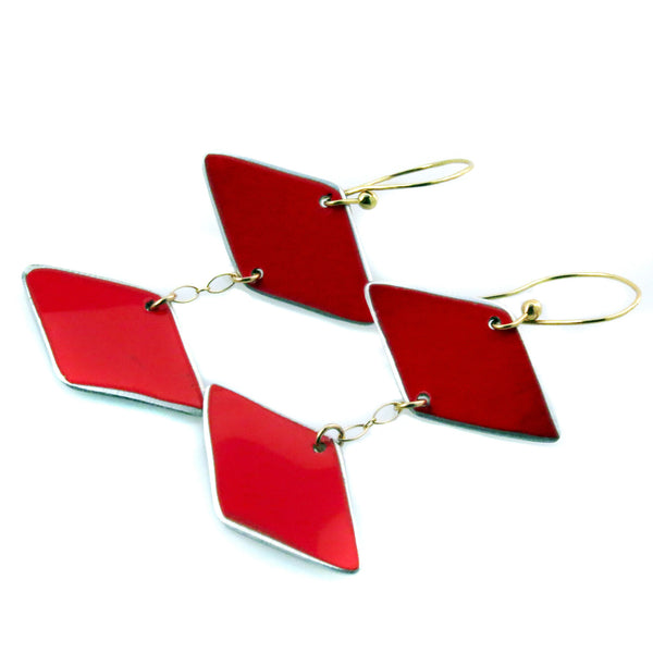 Ferrari Red Retro Earrings - CRASH Jewelry