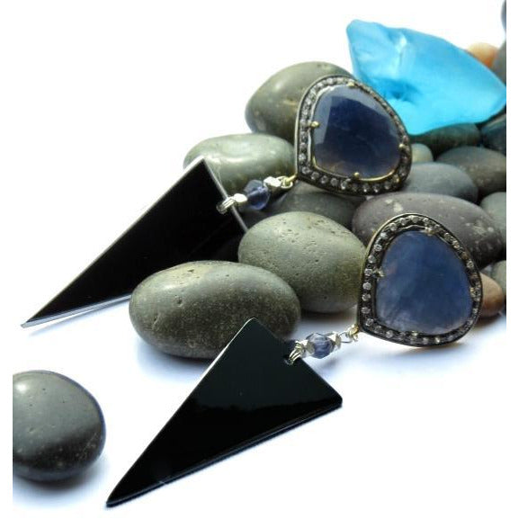 Lamborghini Blue Sapphire Earrings - CRASH Jewelry