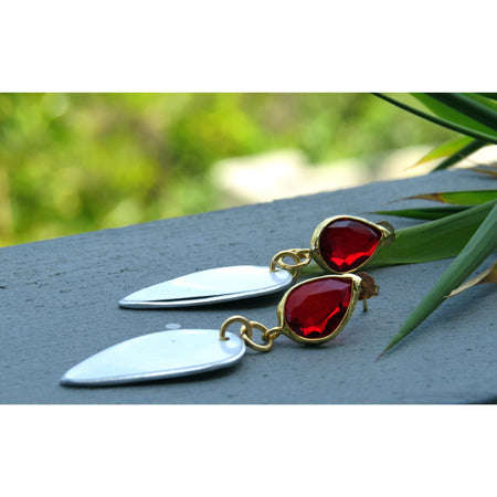 Ferrari Red Diamond Earrings