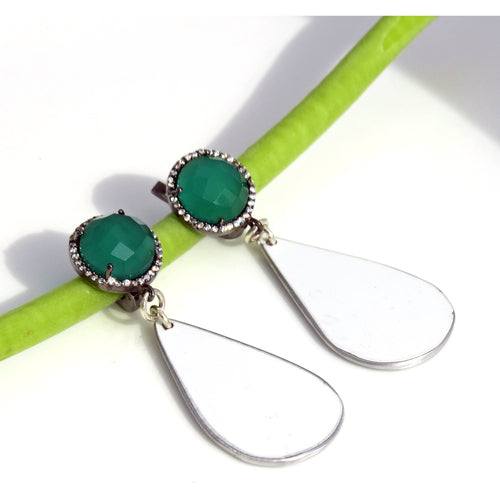 Earrings - Lamborghini Green Onyx Earrings