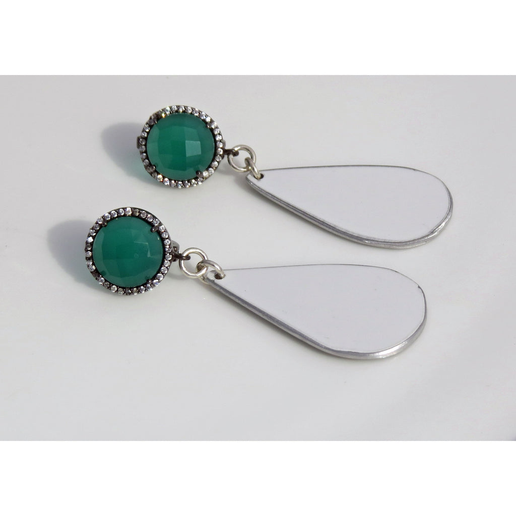 Lamborghini Green Onyx Earrings - CRASH Jewelry