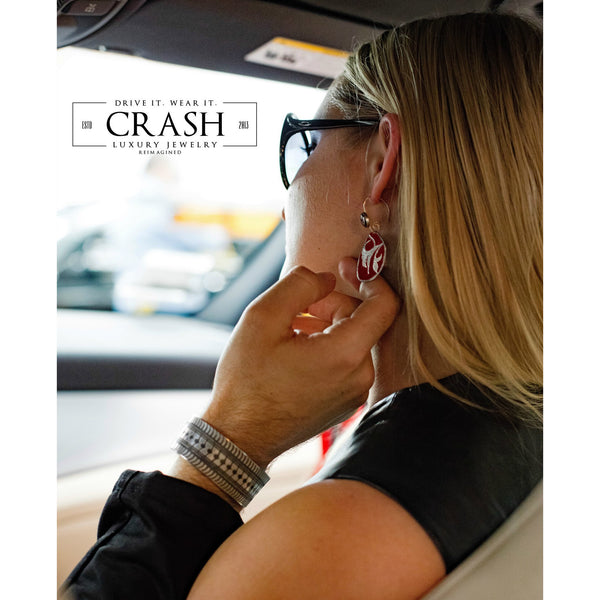 Mercedes-Benz Flower Earrings - CRASH Jewelry