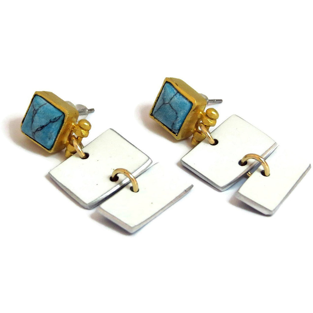 Porsche Rectangle Earrings - CRASH Jewelry