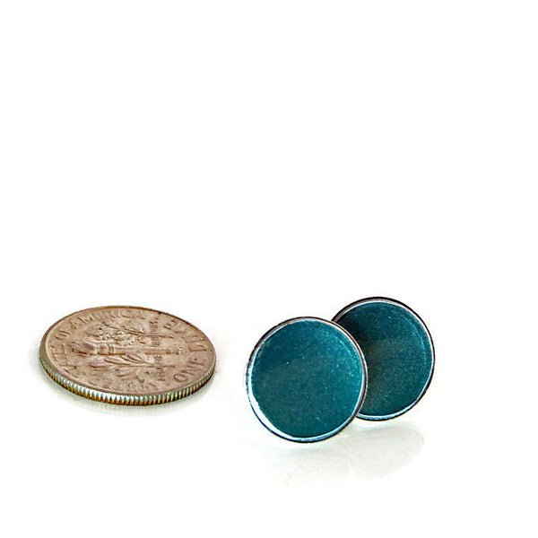 Teal Porsche Stud Earrings - CRASH Jewelry