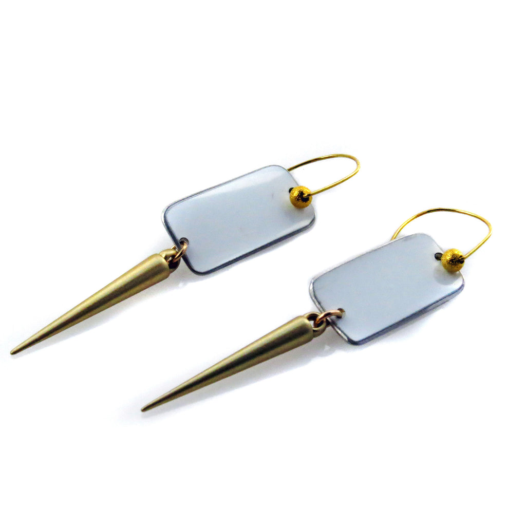 Tesla Gold Spike Earrings - CRASH Jewelry