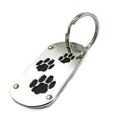 Gray BMW Paw Print Key Chain & Pet ID