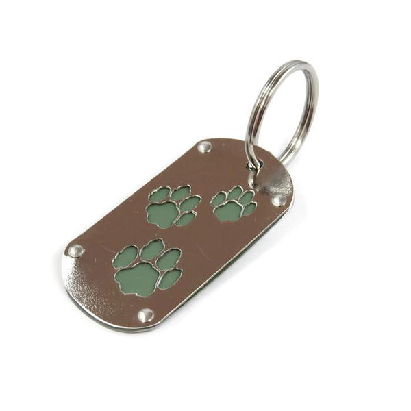 Fiat Paw Print Key Chain & Pet ID - CRASH Jewelry