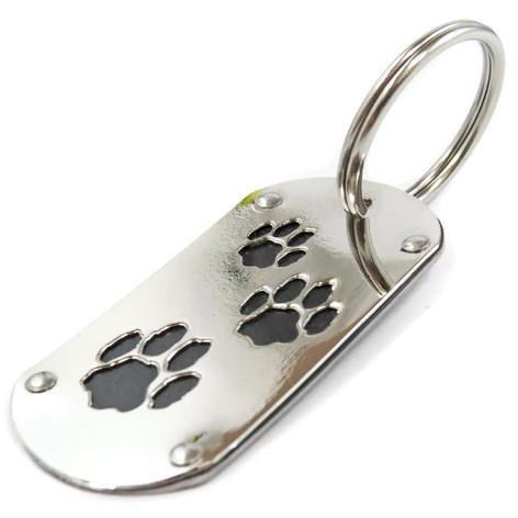 Gray BMW Paw Print Key Chain & Pet ID - CRASH Jewelry