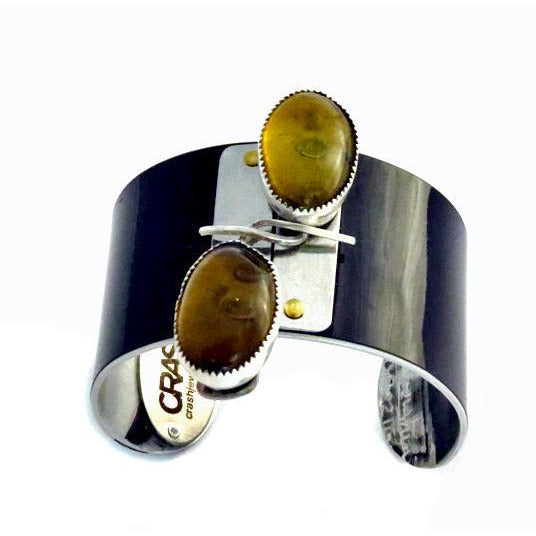Lamborghini Amber Modernist Cuff - CRASH Jewelry