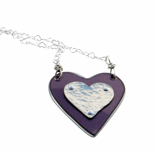 Bentley Purple Heart Necklace - CRASH Jewelry
