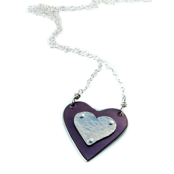 Necklaces - Bentley Purple Heart Necklace