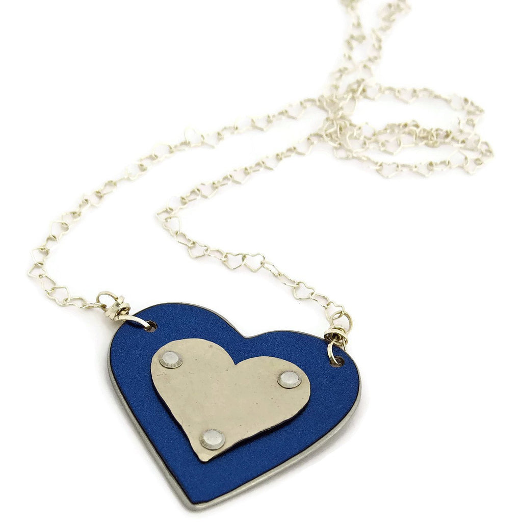 BMW Blue Heart Necklace - CRASH Jewelry