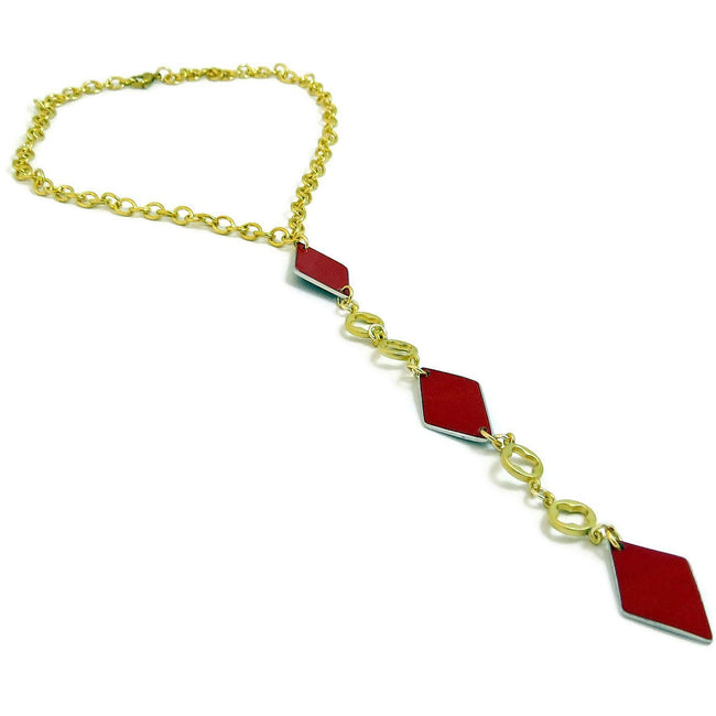 Ferrari Red Diamond Necklace - CRASH Jewelry