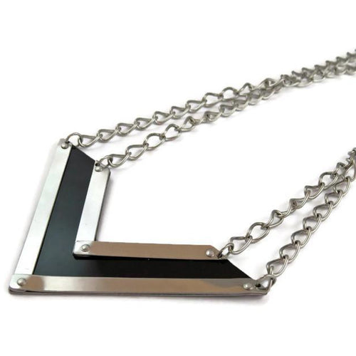 Porsche Chevron Necklace in Silver - CRASH Jewelry