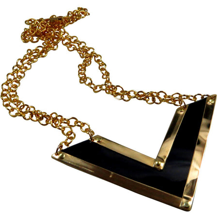 Rolls-Royce Black and Gold Necklace