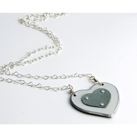 BMW Blue Heart Necklace