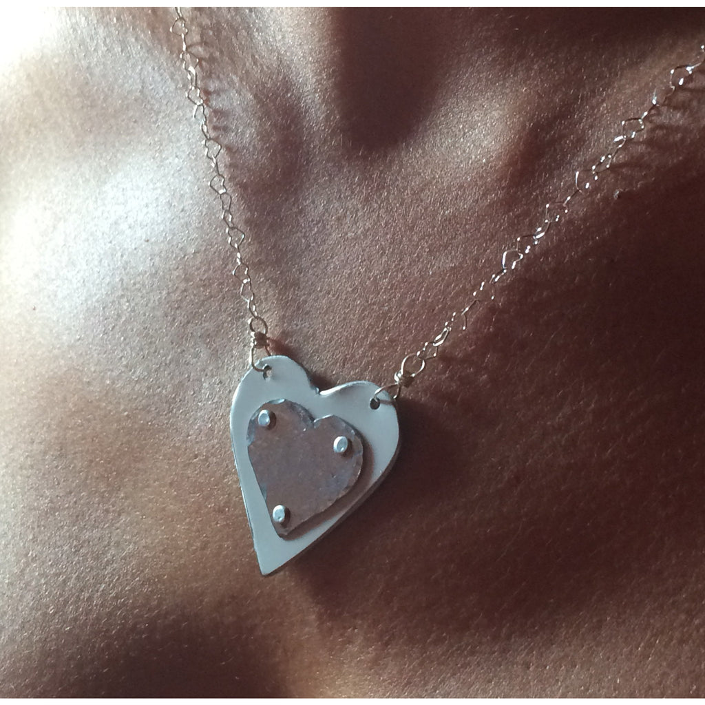 Porsche Panamera Heart Necklace - CRASH Jewelry