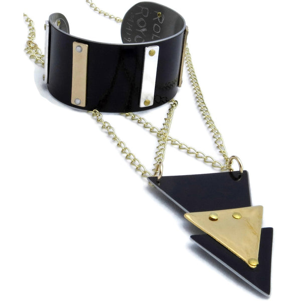 Rolls-Royce Black and Gold Necklace - CRASH Jewelry