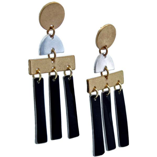 Rolls-Royce Mixed Metal Earrings - CRASH Jewelry