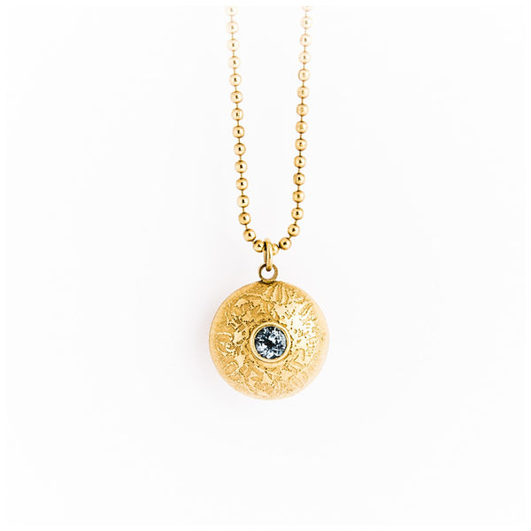 Gold Double Gem Dome Necklace - jeweleen - 1