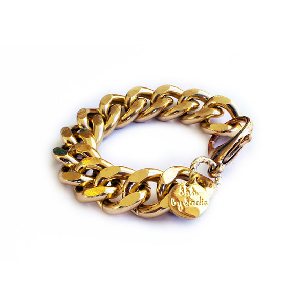 Chunky Chain Bracelet - Gold - jeweleen - 1