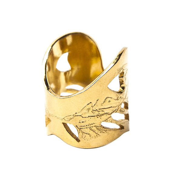 Gold Angel Wings Ring - jeweleen - 1