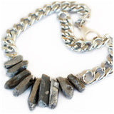 Rocked Up Necklace (Silver) - jeweleen - 3