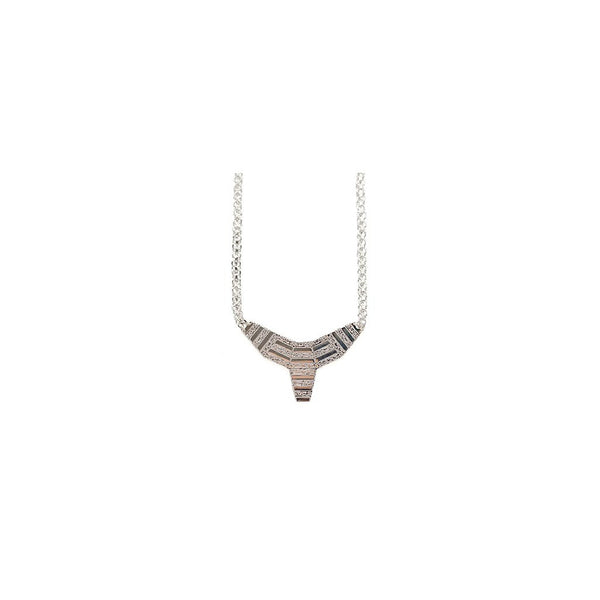 small totem necklace - silver - jeweleen
