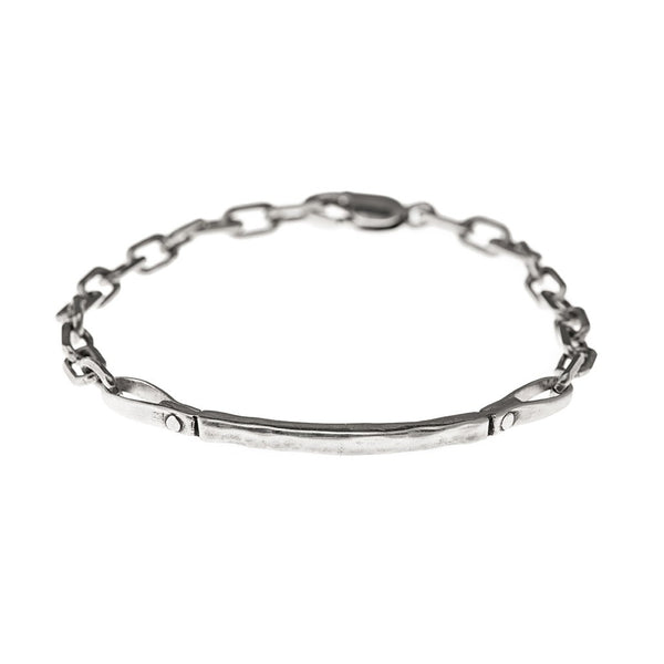 Curved Bar Bracelet - sterling silver - jeweleen - 1