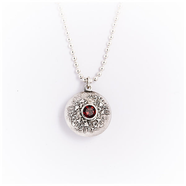 Silver Double Gem Dome Necklace - jeweleen - 1