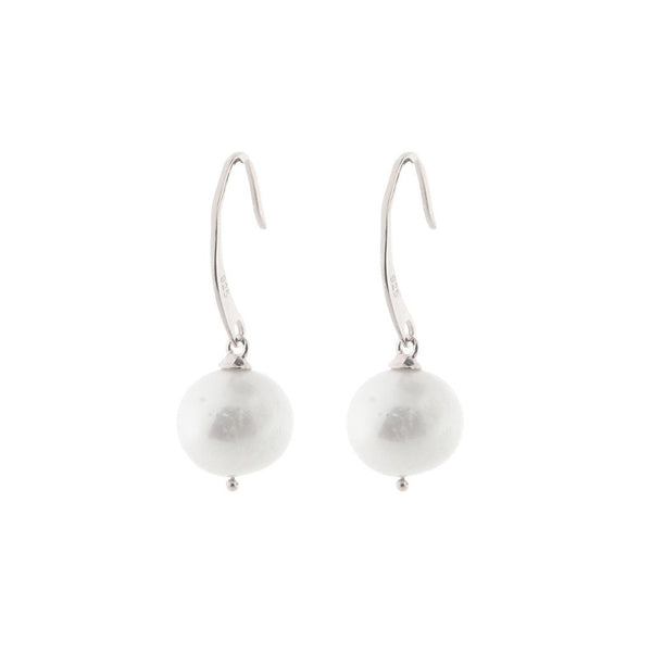 Fronay Co., Sterling Silver Flat Hook Pearl Earrings - jeweleen