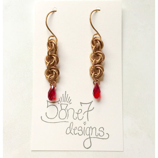 Bronze Knot Earrings - jeweleen