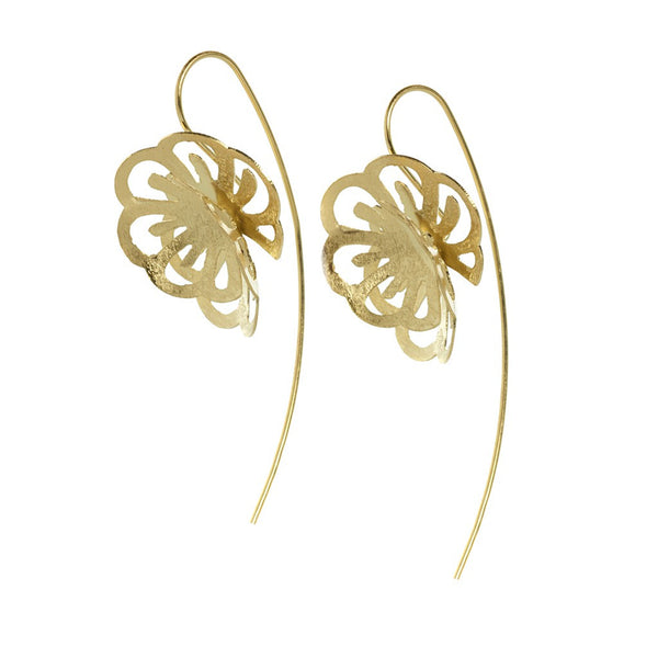 Dahlia earrings gold - jeweleen