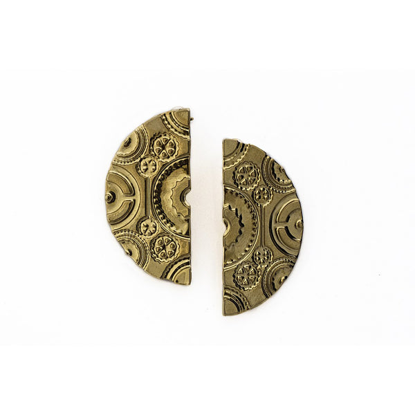 Wheel Earrings- Gold - jeweleen