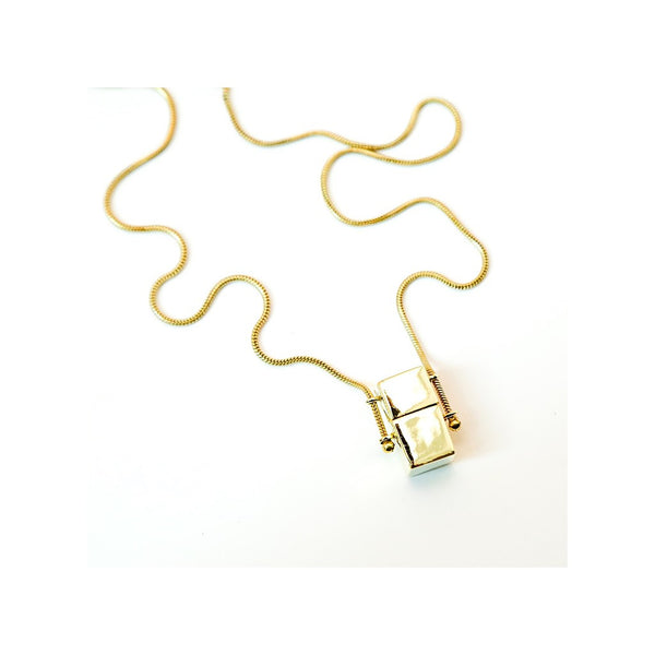 Love squared pendant  necklace - jeweleen - 1