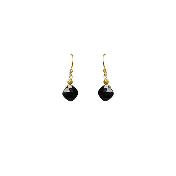Black Spinel Drop Earrings - jeweleen - 1