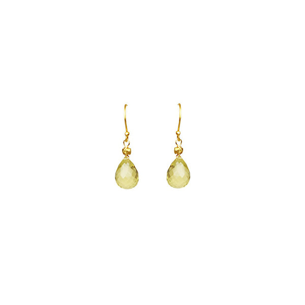 Lemon Citrine Drop Earrings - jeweleen - 1