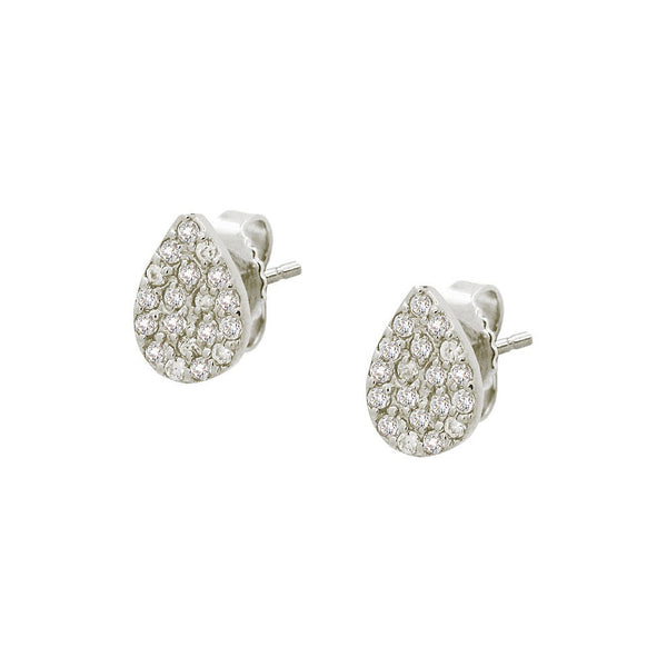 Fronay Collection Sterling Silver CZ Rain Drop Studs - jeweleen