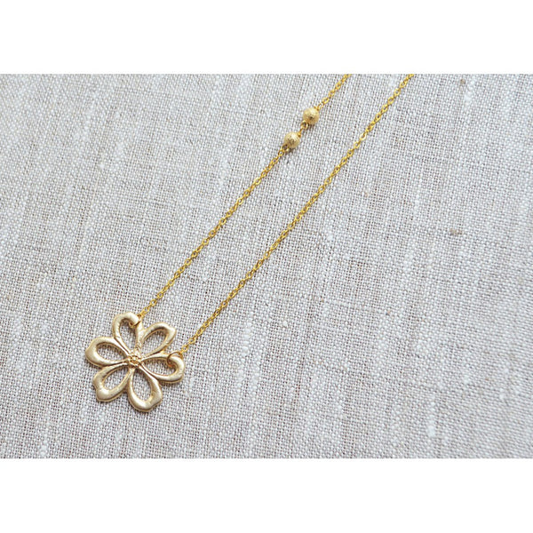Gold flower necklace - jeweleen - 1