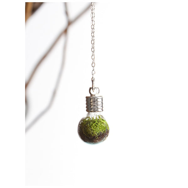 Terrarium Globe Necklace - jeweleen - 1