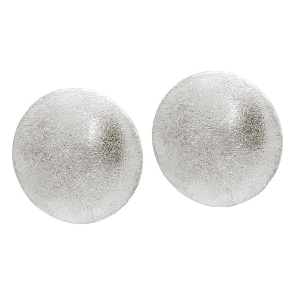 Fronay Co., Sterling Silver Grafiato Large Button Earrings - jeweleen