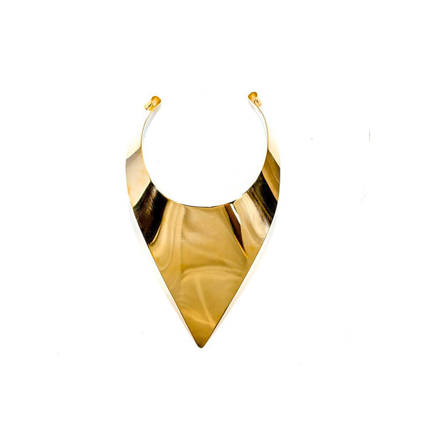 Pectoral collar necklace gold - jeweleen - 1