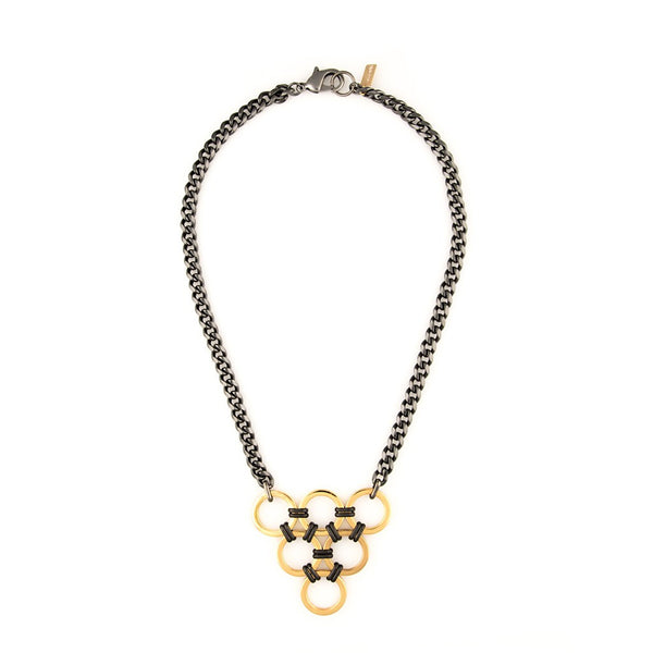 Geo Triangle Necklace - jeweleen